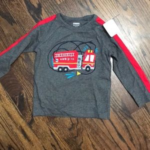 NWT Gymboree 18-24 fire truck long sleeve shirt